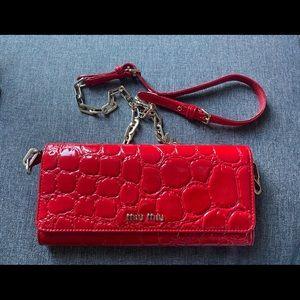 Miu miu crocodile purse